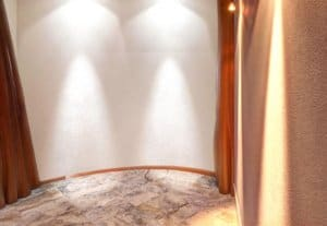 custom plaster on interior alcove space